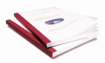 Documents bound in Aquarelle Burgundy cover